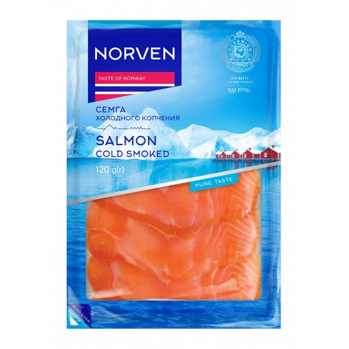 Salmon cold smoked slices 120g