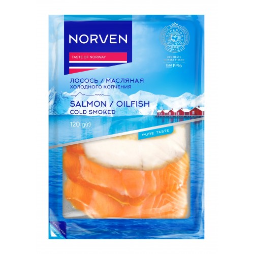 Salmon & Oilfish cold smoked 120g