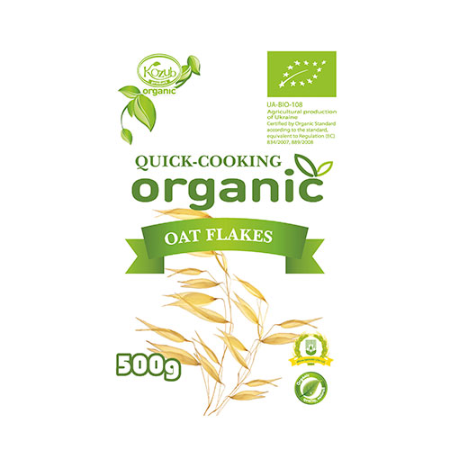 Mixed quick-cooking organic cereals