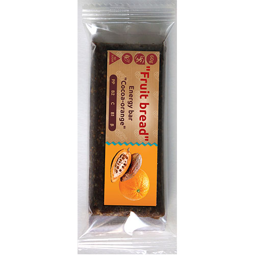 Energy bar 'Fruit bread' Cocoa-orange 60g Fruit Bread online shop Dubai