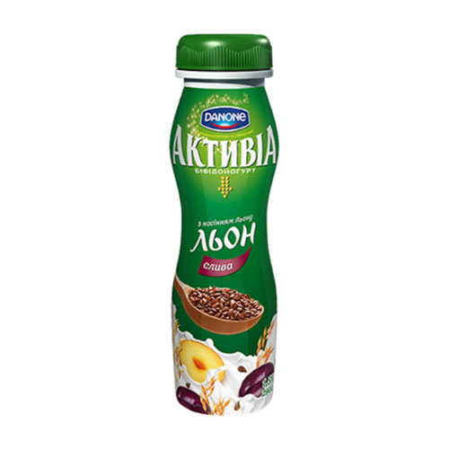 Bifidoyogurt 'Activia' with bifidobacteria ActiRegularis Plum & Flax seeds 1,5% 290g Danone online shop Dubai
