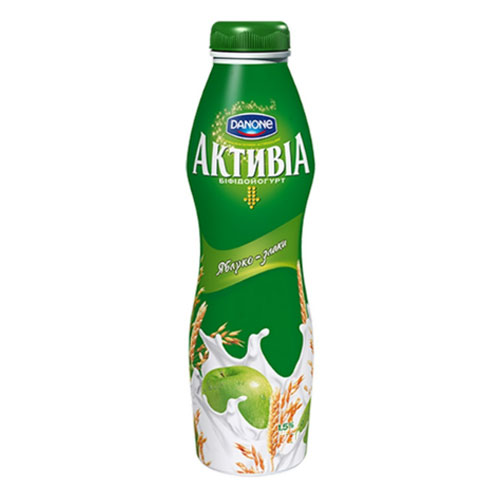 Bifidoyogurt 'Activia' with bifidobacteria ActiRegularis Apples & Cereals 1,5% 290g Danone online shop Dubai