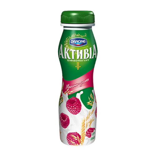 Bifidoyogurt 'Activia' with bifidobacteria ActiRegularis Raspberry & Cereals 1,5% 290g  Danone online shop Dubai