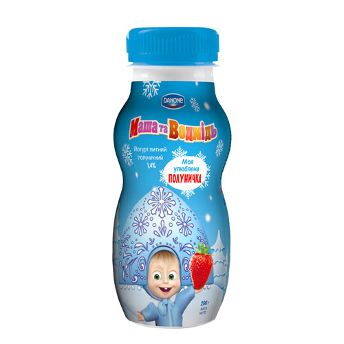 Drinking yoghurt 'Masha and the Bear' Strawberry 1,4% 200g  Danone online shop Dubai