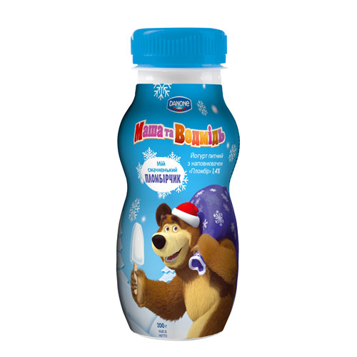 Drinking yoghurt 'Masha and the Bear' Plombir 1,4% 200g  Danone online shop Dubai