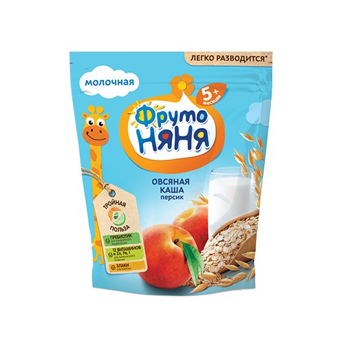 FrutoNyanya Oatmeal dairy cereal with peach soluble 200g