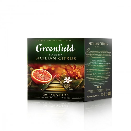 Black tea SICILIAN CITRUS tb 1.8g x 20 Greenfield online shop Dubai