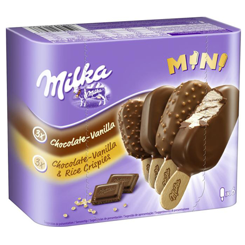 Ice cream 'Mini' on a stick Milka 50gr 4pcs Milka online shop Dubai