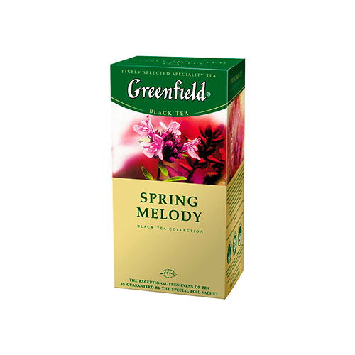 Spring Melody, herbal tea, foil termosashe Greenfield online shop Dubai