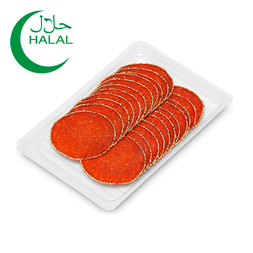 Turkey Salami coated with Pepper in slices (Double Line) 80g Home Traditions online shop Dubai