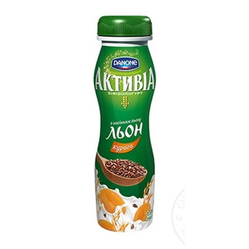 Bifidoyogurt 'Activia' with bifidobacteria ActiRegularis Dried apricots & Flax seeds 1,5% 290g Danone online shop Dubai