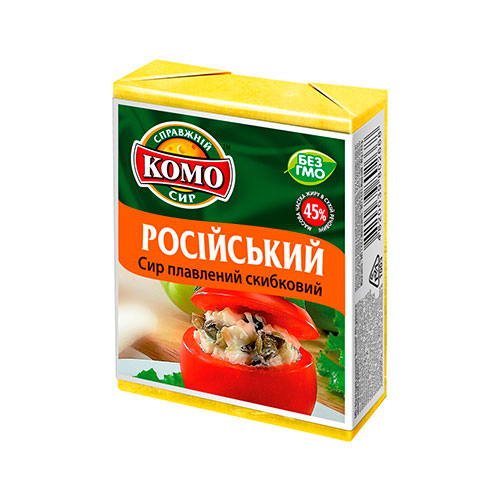 "Processed cheese ""Russian"" Komo online shop Dubai"