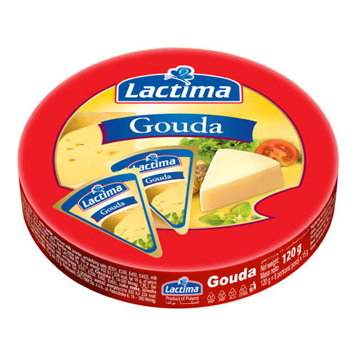 Processed cheese portions 'Gouda' 120g Lactima online shop Dubai