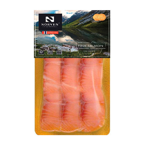 Pink Salmon cold smoked sliced 90g