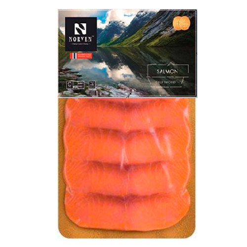 Salmon cold smoked slices 90g
