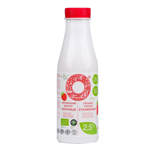 Organic yogurt with Strawberry 2,5% 470g Organic Milk online shop Dubai
