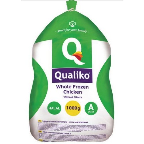 Qualiko Whole Chicken frozen HALAL 1000g