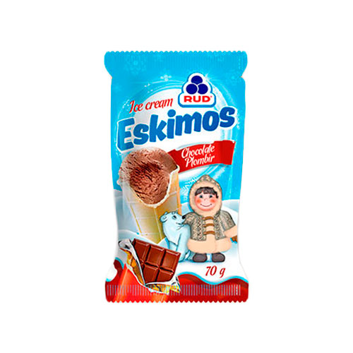 Ice cream Chocolate Plombir 'Eskimos'