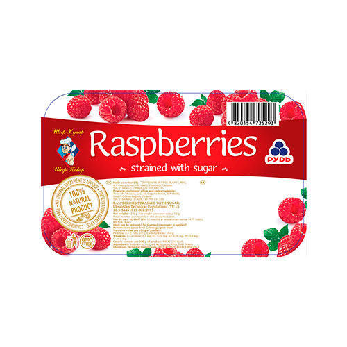 Mashed Raspberries with sugar 250g Rud online shop Dubai