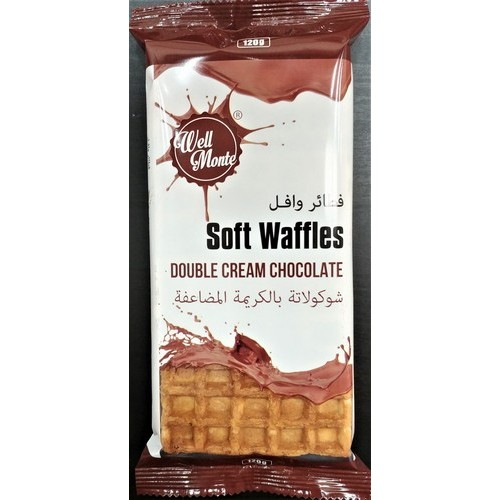 Well Monte waffles with Double Milk Chocolate 4pcs 120g