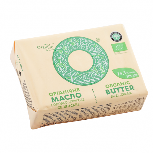 Organic Sweetcream Butter 74,5% 200g